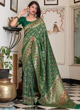 Silk Green Traditional Saree