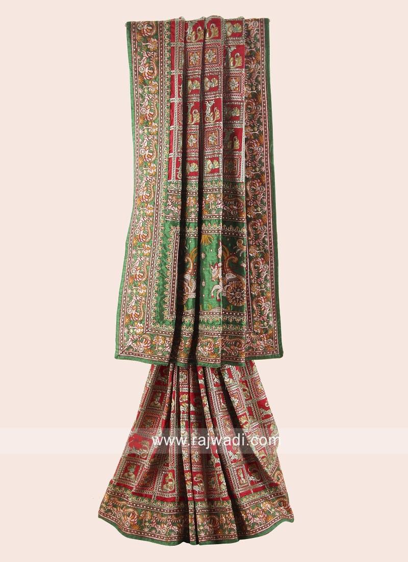 Silk Gujarati Gharchola for Bride