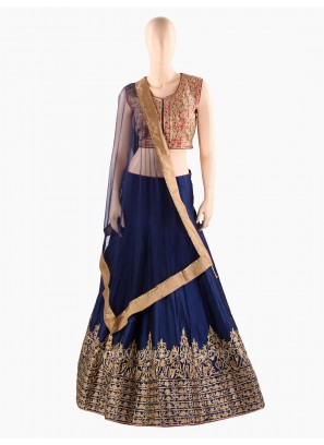 Silk Hand Embroidered Wedding Choli Suit