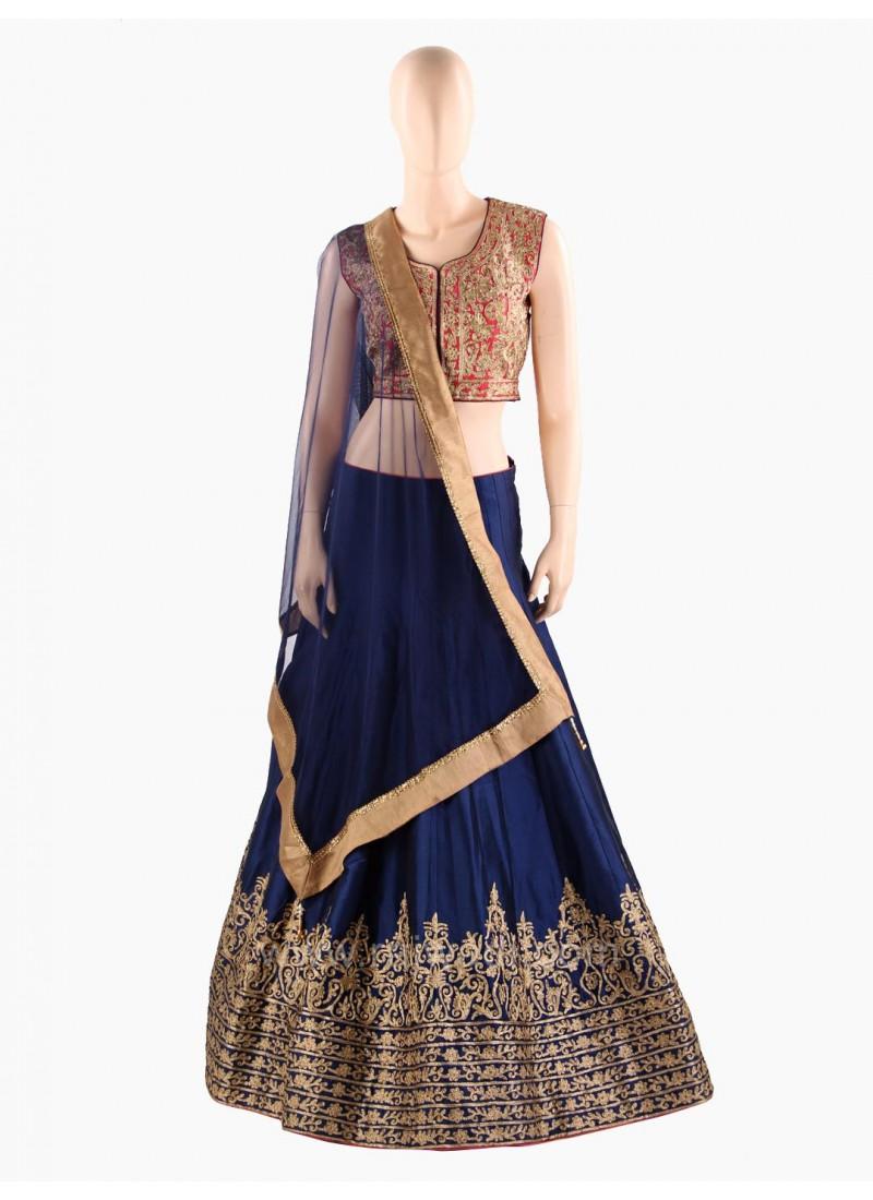 Silk Hand Embroidered Wedding Choli Suit
