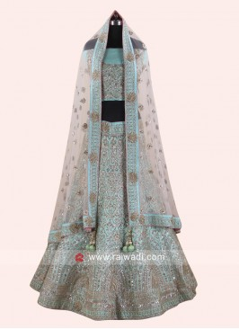 Silk Heavy Embroidered Lehenga