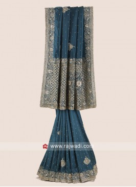 Silk Heavy Work Wedding Saree