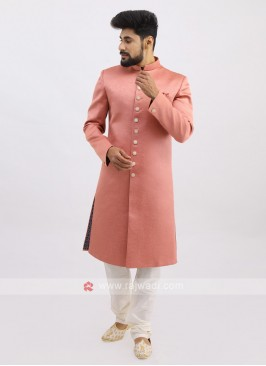 Silk indo Western In Light Pink