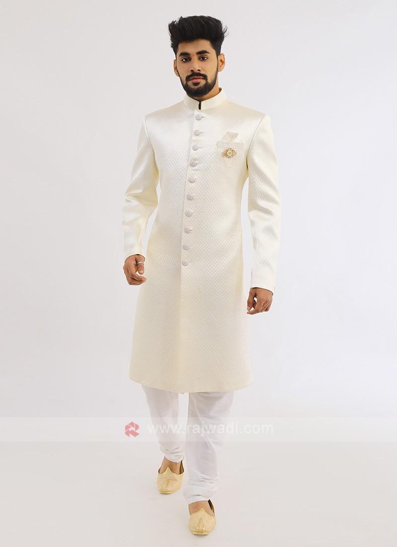 Silk Indo western In Cream