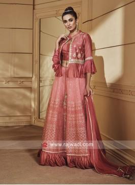 Silk Koti Style Indo Western Choli Suit