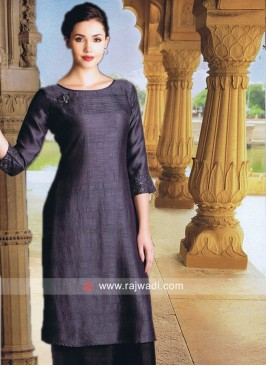 Silk Kurti in Grey