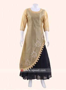 Silk Layered Kurti
