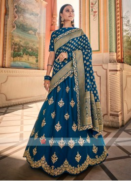 Silk Lehenga Choli In Blue