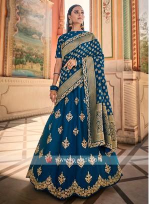 Silk Lehenga Choli In Blue