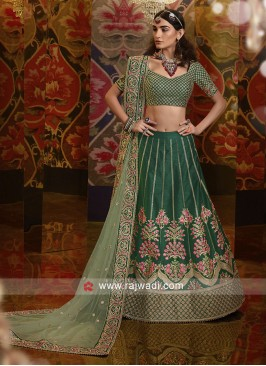 Silk Lehenga Choli In Green
