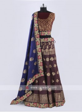 Silk Lehenga Choli In Maroon Color