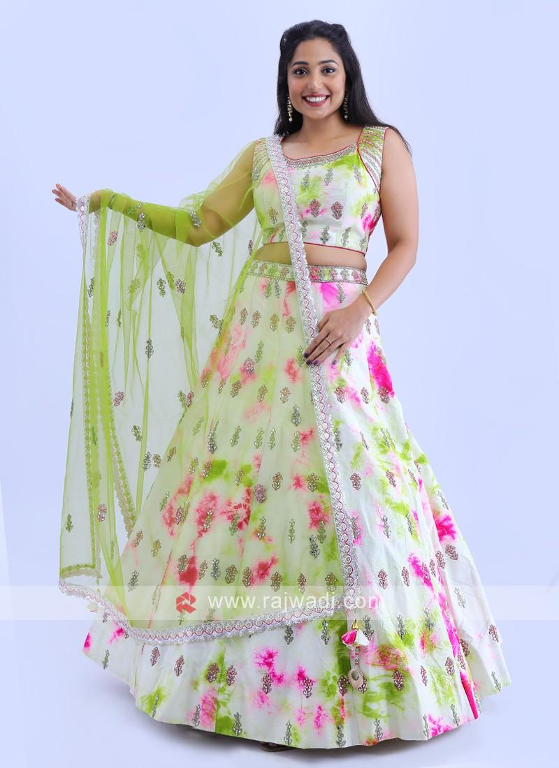 Silk Lehenga Choli In Multi Color