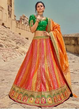 Silk Lehenga Choli in Multi Colour