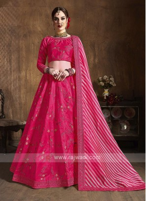 Silk Lehenga Choli In Pink
