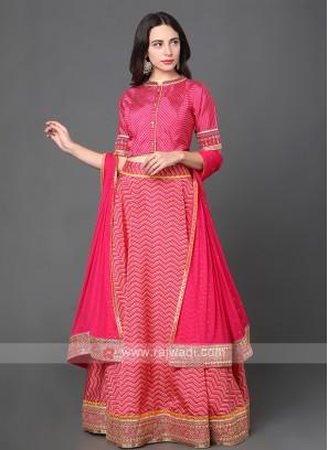 Silk Lehenga Choli In Pink