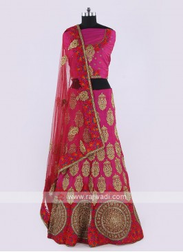 Silk Lehenga Choli In Pink Color