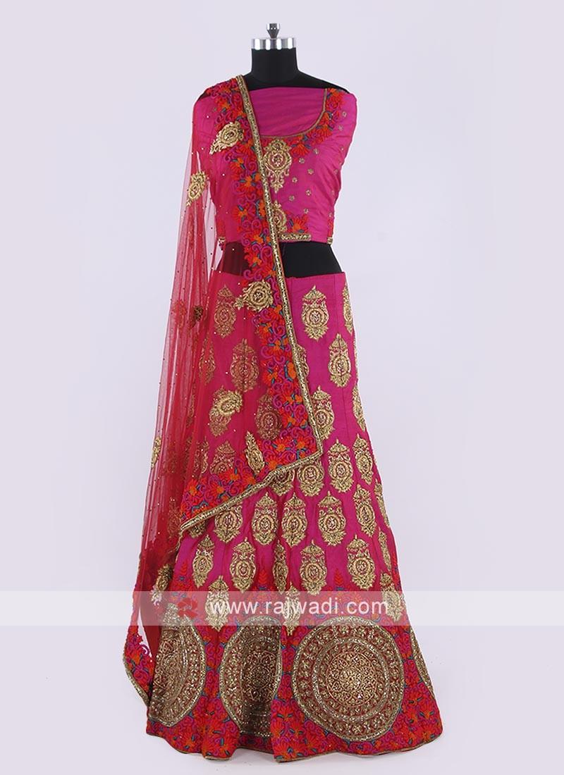 Silk Lehenga Choli In Pink Color