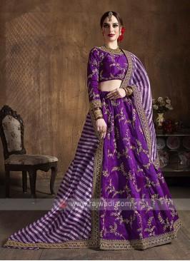 Silk Lehenga Choli In Purple