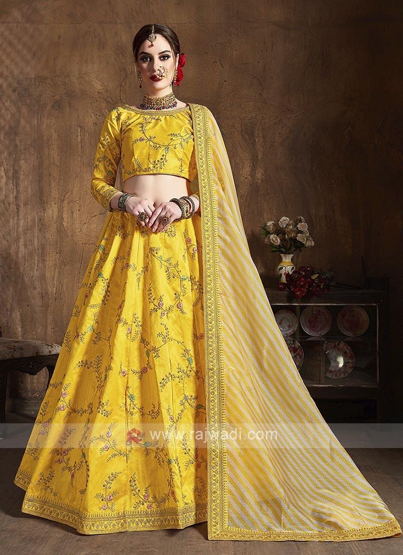 Silk Lehenga Choli In Yellow