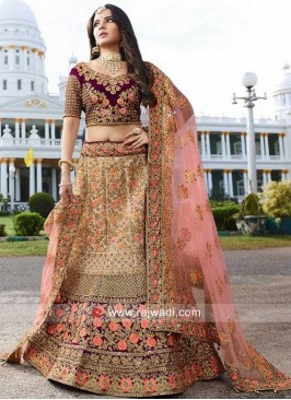 Silk Lehenga Choli with Net Dupatta