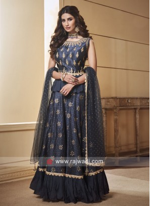 Silk Lehenga Set with Net Dupatta