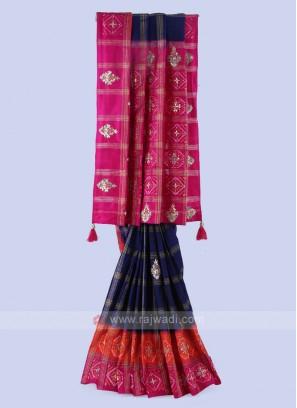 Silk Multi Color Saree.