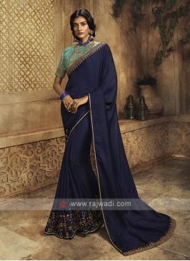 Silk Navy Blue Saree