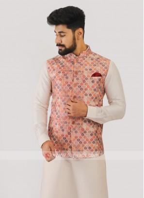 Silk Nehru Jacket In Multi Color
