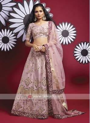 Silk Onion Pink Lehenga Choli