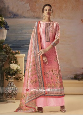 Silk Palazzo Suit in Pink