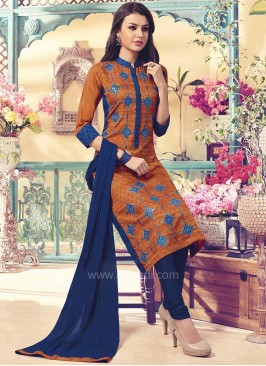 Silk Party Wear Churidar Suit