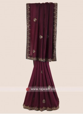 Silk Party Wear Saree in Magenta