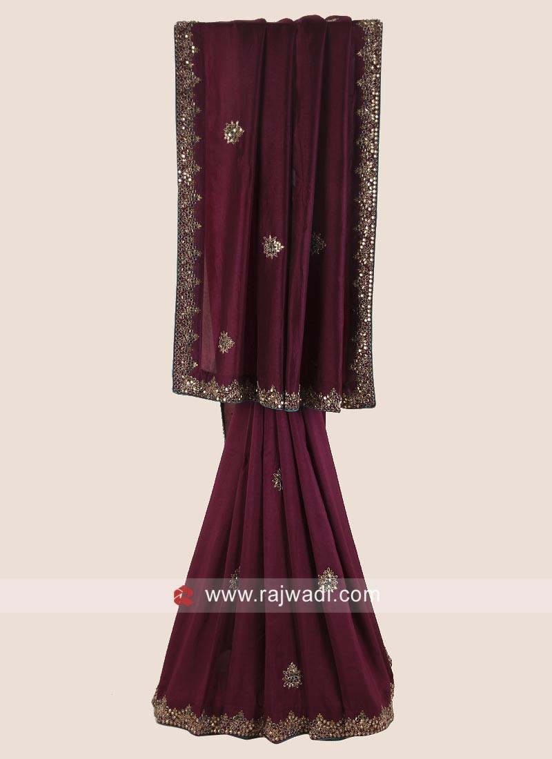 Silk Party Wear Saree in Magenta