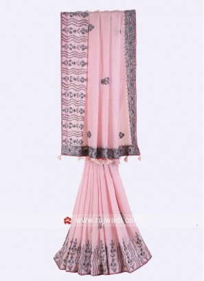 Silk Party Wear Saree in Pink