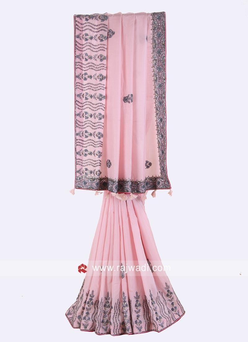Silk Party Wear Saree in Pink