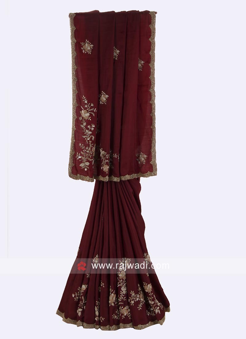 Silk Party Wear Saree with Blouse