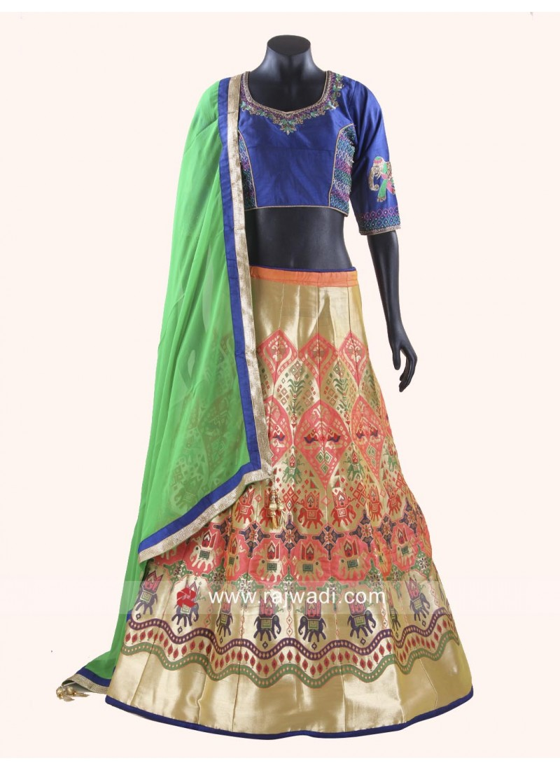 Silk Printed Chaniya Choli