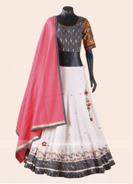 Silk Printed Chaniya Choli for Garba