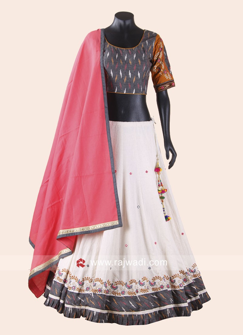 Silk Printed Chaniya Choli for Garba