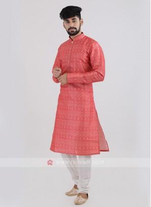 Silk Printed Kurta Pajama