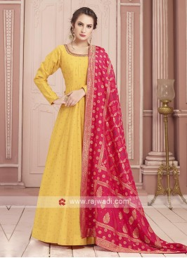 Silk Readymade Anarkali Suit