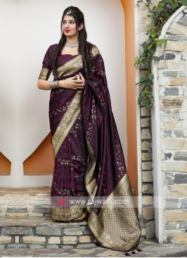 Silk Saree In Purple