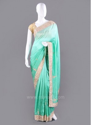Silk Saree with Cut Work Border