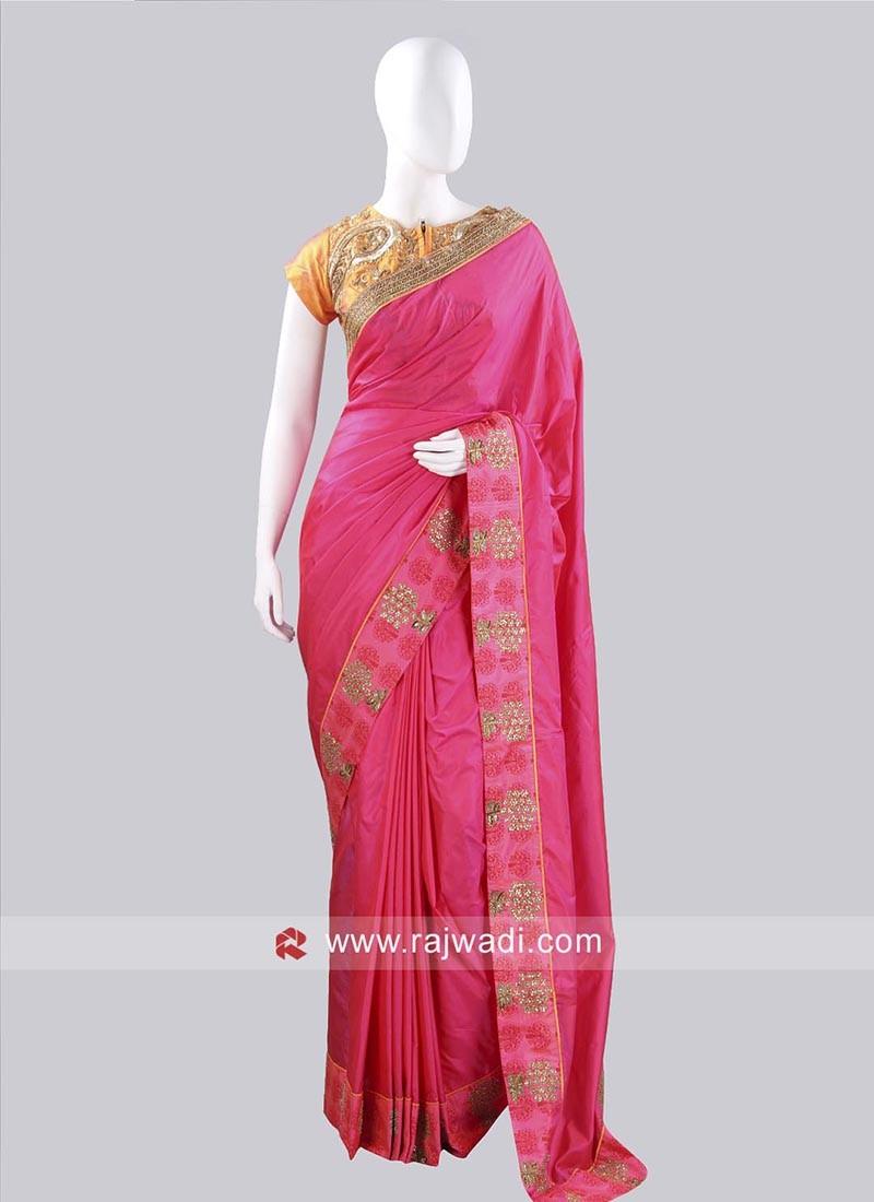 Silk Saree with Ready Choli