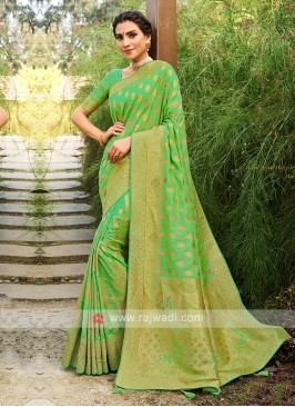 Silk Saree With Weaving Work