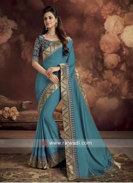 Silk Saree with Zari Border