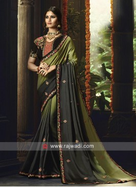 Silk Shaded Saree with Heavy Blouse