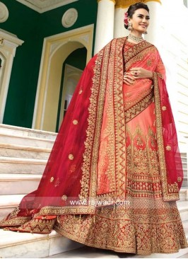 Silk Shaded Wedding Lehenga Set