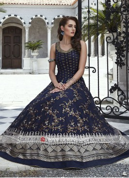 Silk Sleeveless Anarkali Suit with Dupatta