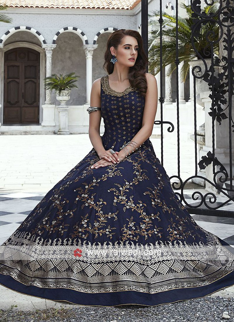Silk Sleeveless Anarkali Suit with Dupatta